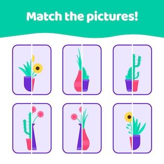 Combine o jogo de imagens