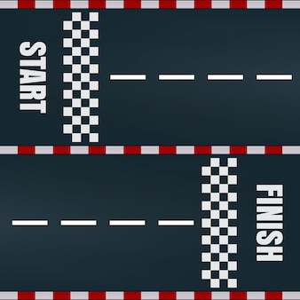 Começar a terminar a marcação da pista de corrida