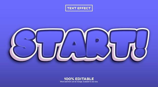 Começar! efeito de texto