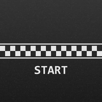 Comece a pista de corrida de linha
