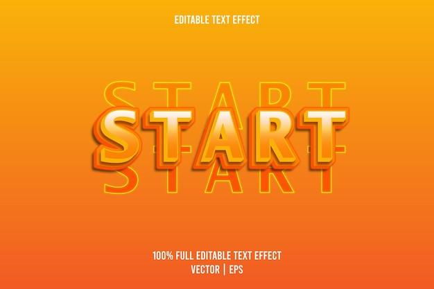 Comece o efeito de texto editável na cor laranja