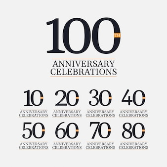 Comemoração de aniversário de 100 anos vector illustration template