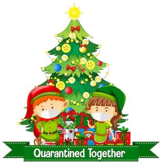 Comemoração de natal durante a cobiça