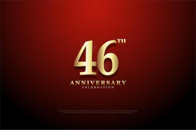 Comemoração do 46º aniversário com fundo vinheta