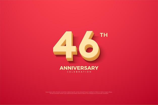 Comemoração do 46º aniversário com números de papelão