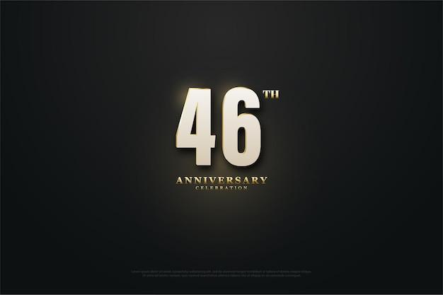 Comemoração do 46º aniversário com números luminosos