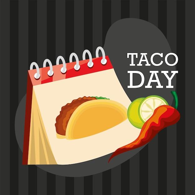 Comemoração do dia do taco no méxico