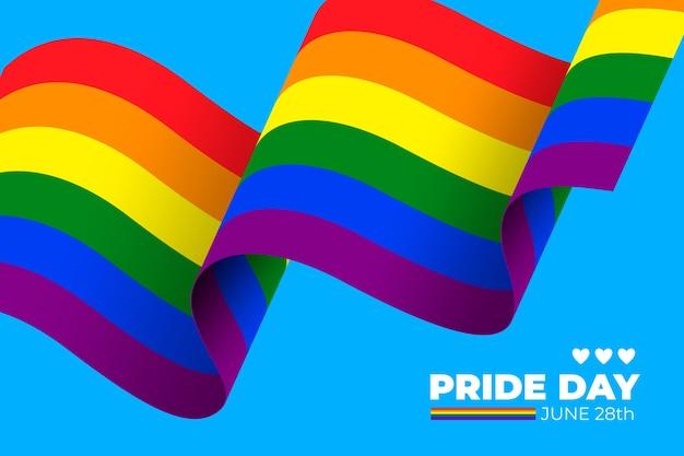 Comemorando a bandeira do arco-íris do dia do orgulho