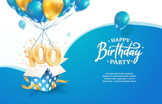 Comemorando o aniversário do décimo ano ilustração vetorial celebração de cem anos de nascimento adulto