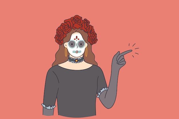 Comemorando o conceito de feriado feliz de halloween