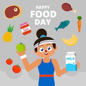 Comemorando o dia feliz da comida