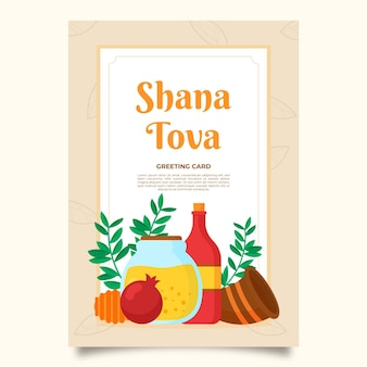 Comemorando o evento de shana tova cartão comemorativo