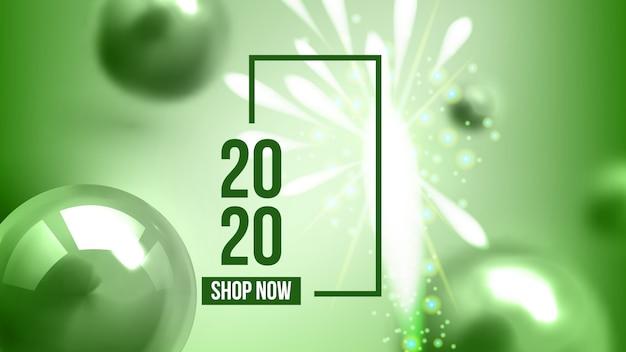 Comemorando o feliz ano novo convidar banner