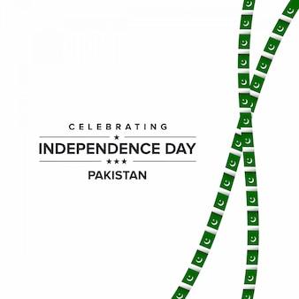 Comemore o dia da independência no paquistão