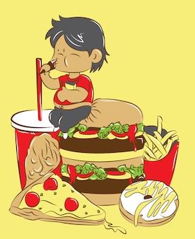 Comendo demais