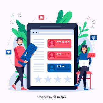 Comentários ilustração do conceito em design plano