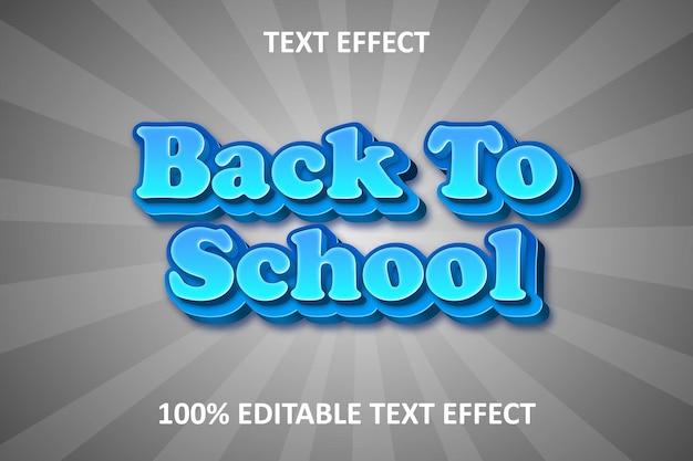 Comic retro editable text effect blue silver back