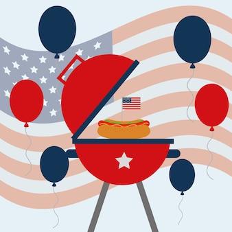 Comida americana dia da independência