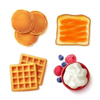 Comida de café da manhã 4 para ver os itens