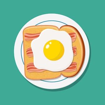 Comida de café da manhã americano