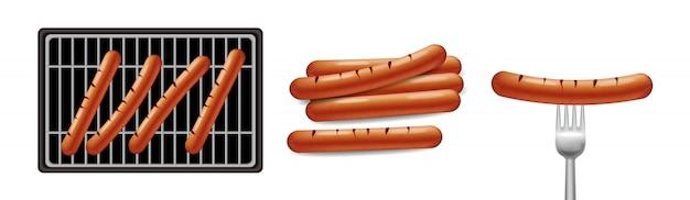 Comida de churrasco de cachorro-quente