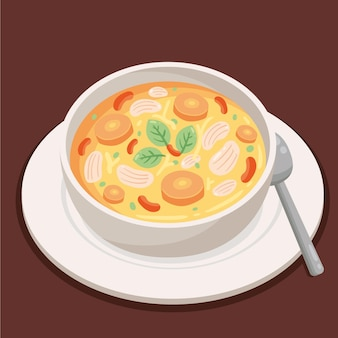 Comida de conforto deliciosa ilustrada