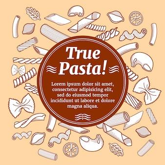 Comida de cozinha italiana, modelo de vetor de panfleto de restaurante