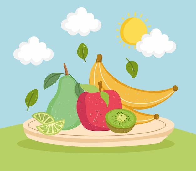 Comida de frutas saudáveis