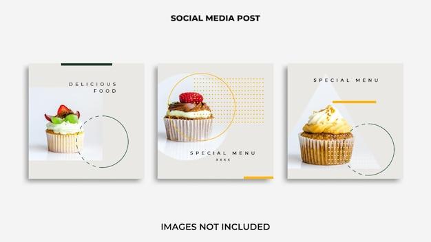 Comida do post design do instagram