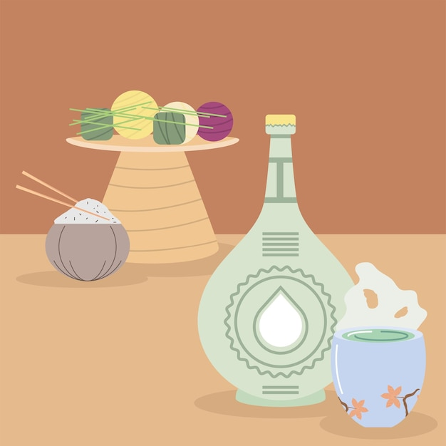 Comida e bebida coreana