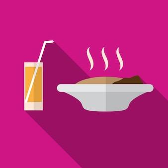 Comida e bebida ícone plana ilustração isolado símbolo de sinal de vetor