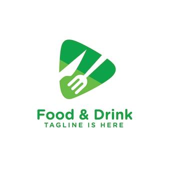 Comida e bebida logo