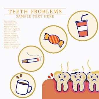 Comida e bebida ruins para os dentes