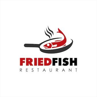 Comida frigideira de peixe frito