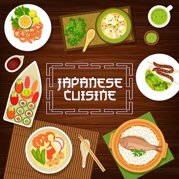 Comida japonesa, cardápio de culinária japonesa