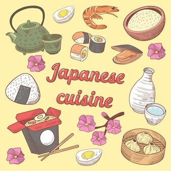 Comida japonesa com sushi
