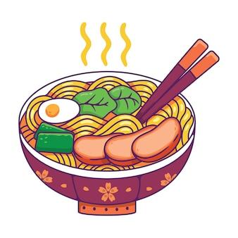 Comida japonesa em uma tigela