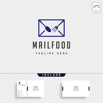 Comida mensagem falar chat linha contorno simples logotipo plana