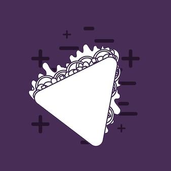 Comida mexicana com ícone de quesadilla sobre fundo roxo, design colorido. ilustração vetorial