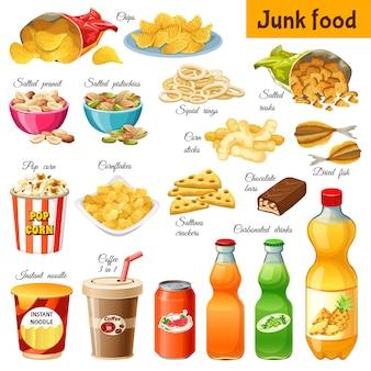 Comida não saudável.