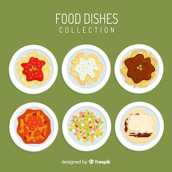 Comida prato coleção