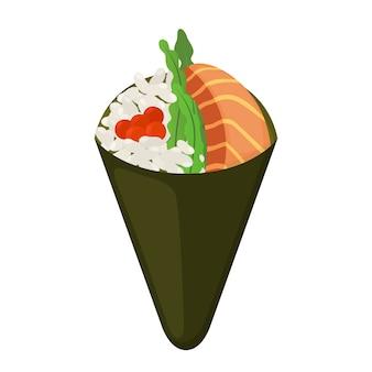 Comida saborosa de temaki