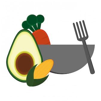 Comida saudável de legumes