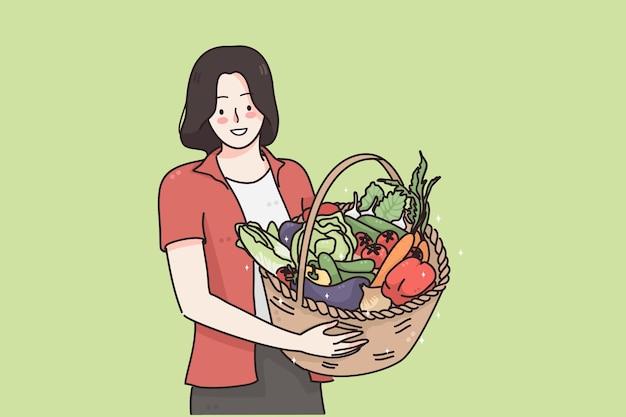 Comida saudável e conceito de dieta vegetariana