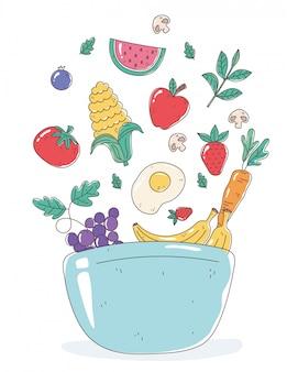 Comida saudável em uma tigela