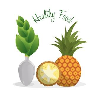 Comida saudável fruta dieta estilo de vida
