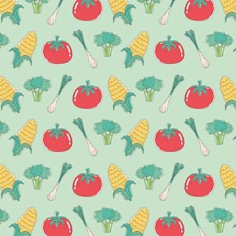Comida saudável nutrição dieta tomate orgânico cebola milho brócolis legumes fundo