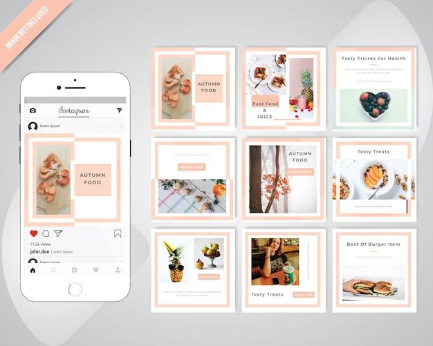 Comida social media postar modelo para restaurante
