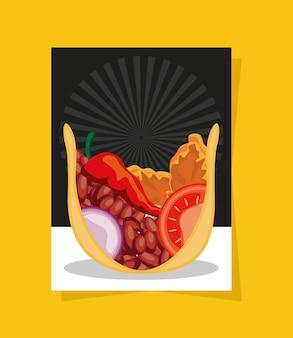 Comida tradicional de taco