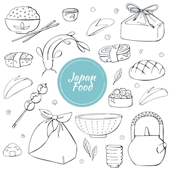 Comida tradicional japonesa e bebidas